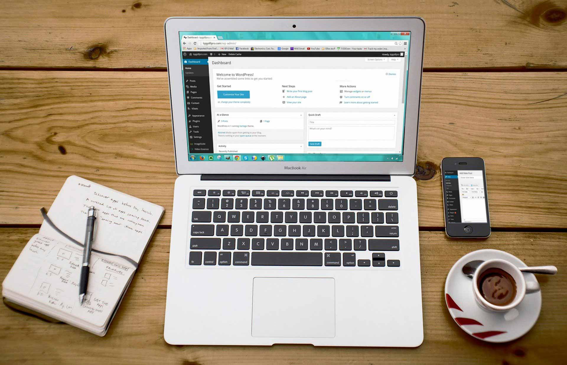 Template of maatwerk WordPress website laten maken