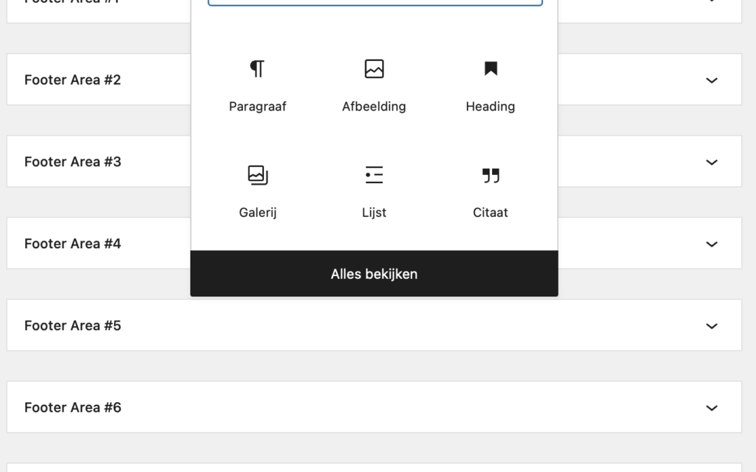 Problemen met widgets na update naar WordPress 5.8