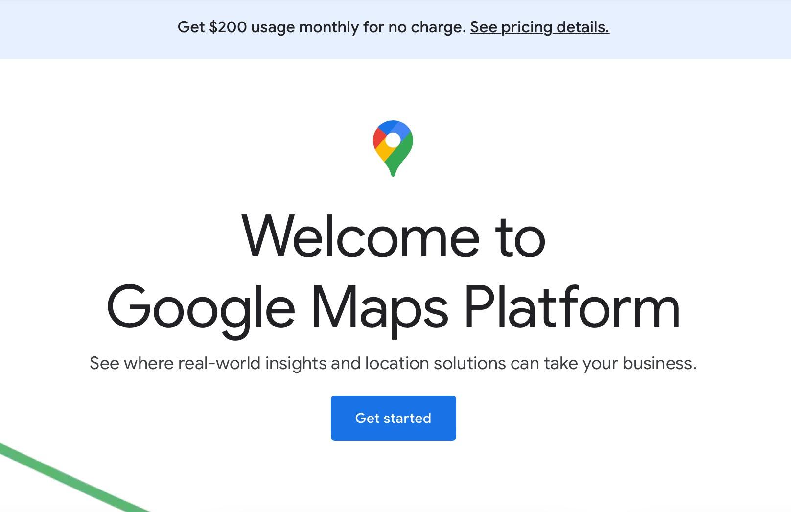 Google Maps API key aanvragen